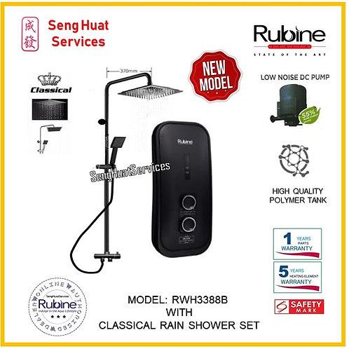 Rubine RWH 3388B +CLASSICAL BLACK Rain shower ( SERVICES OPTION TO SELEC