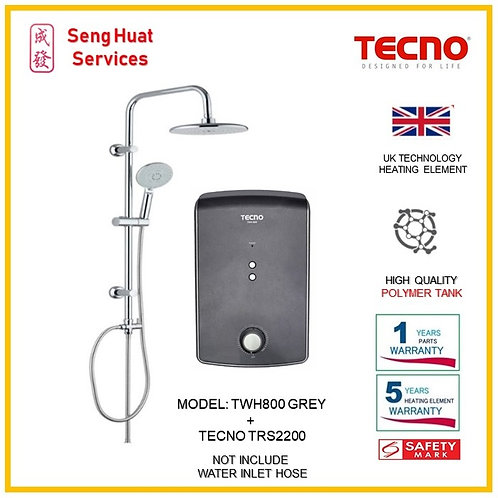 TECNO TWH800  Heater+TECNO Rain Shower ( SERVICES OPTION TO SELECT)