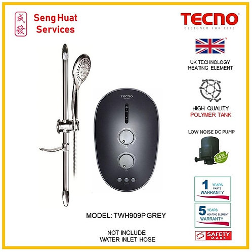 TECNO TWH909P GREY Instant  Heater ( SERVICES OPTION TO SELECT )