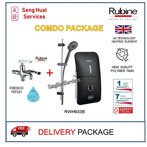Rubine RWH-933B + 2 Way Tap Delivery COD