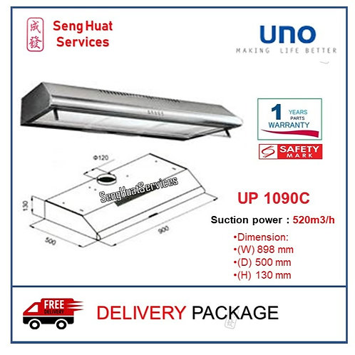 UNO UP 1090C 90cm Slim Line Hood