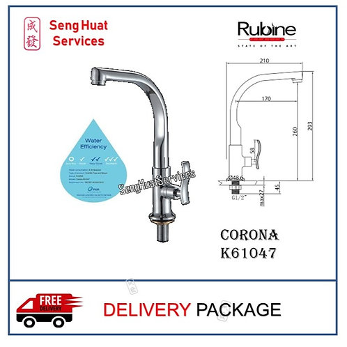 RUBINE  Corona K61047 Kitchen Sink Cold Tap DELIVERY COD