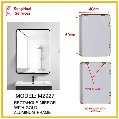 M-2927 Bathroom Rectangle Mirror ( SERVICES OPTION TO SELECT )