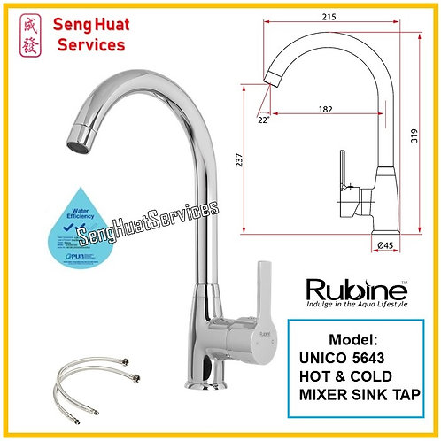 RUBINE 5643 Hot & Cold Mixer Kitchen Sink Tap SERVICES OPTION SELECT
