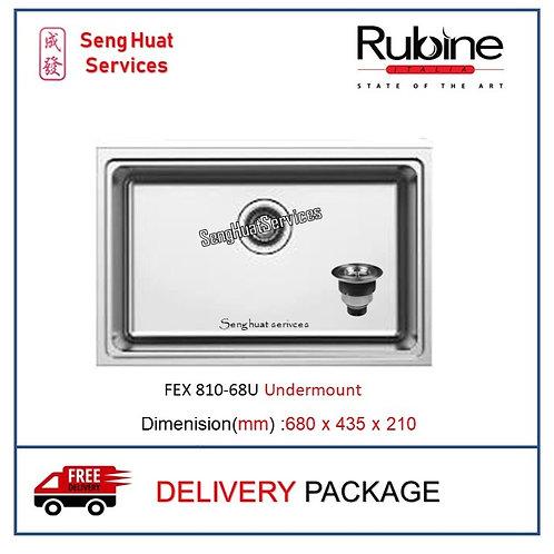 Rubine FEX 810-68U Undermount Stainless Steel Kitchen Sink DELIVERY