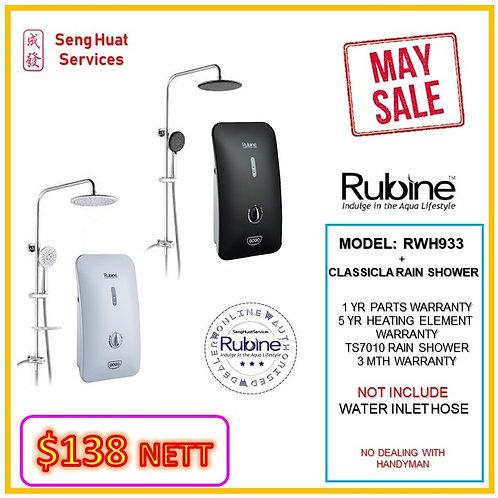 Rubine RWH-933  + CLASSICAL Rain Shower MAY SALE