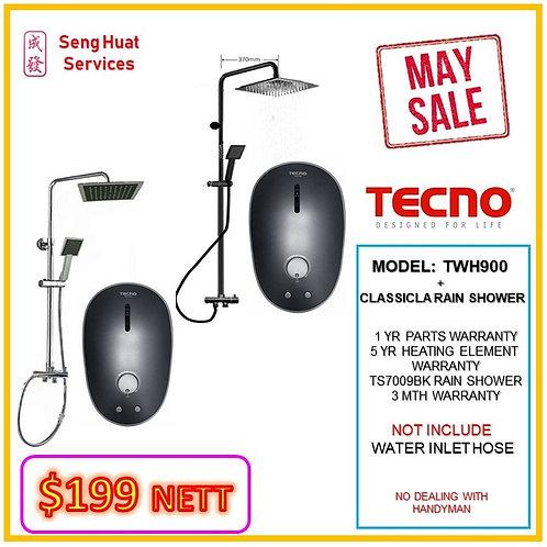Tecno TWH900 Heater +CLASSICLA  Rain Shower MAY SALE