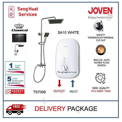 Joven SA10 WHITE Instant Heater + CLASSICAL Rain Shower With Delivery
