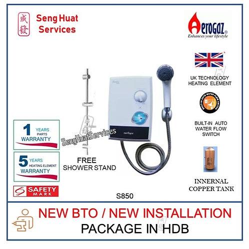 Aerogaz S850 Instant water heater NEW BTO INSTALL