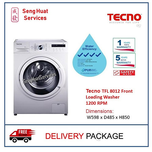 Tecno TFL 8012 Front Loading Washer DELIVERY
