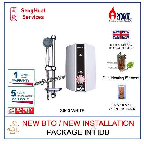 Aerogaz S600 White Instant Water Heater NEW BTO INSTALL COD