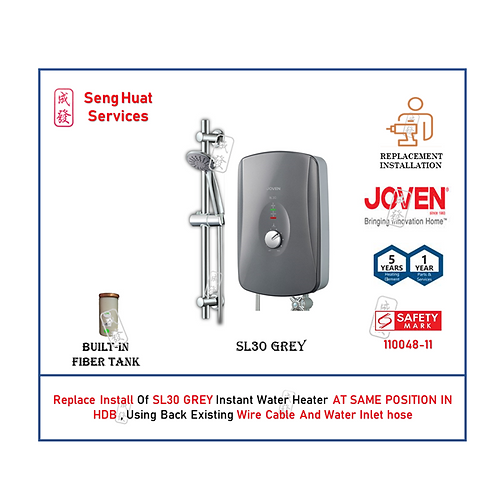 REPLACE INSTALL Joven SL30 GREY Instant Heater COD