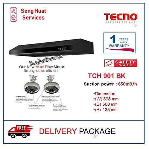 Tecno TCH 901 BK Slim Line Designer Cooker Hood with Maxi-Flow Motor