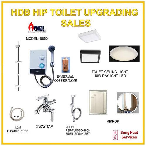 HDB HIP TOILET UPGRADE AEROGAZ S850 PROMTION PACKAGE