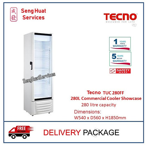 Tecno TUC 280FF 280L Frost Free Commercial Cooler Showcase