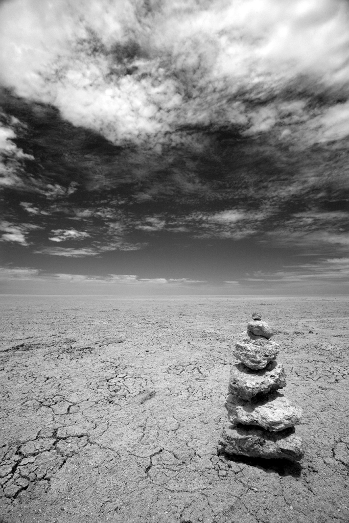 A Cairn on  the Great White Place