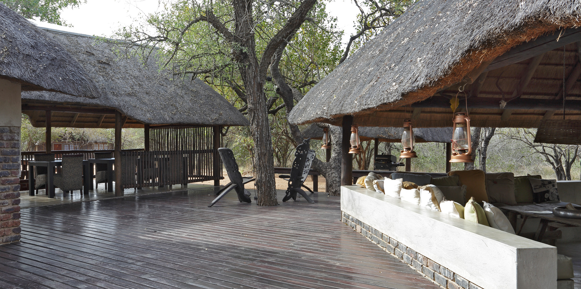 View of deck and dining area