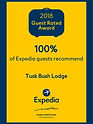 award from Expedia 100% guest reccommendations