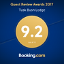 9.2 Guest review for Tusk Bush Lodge from  booking.com