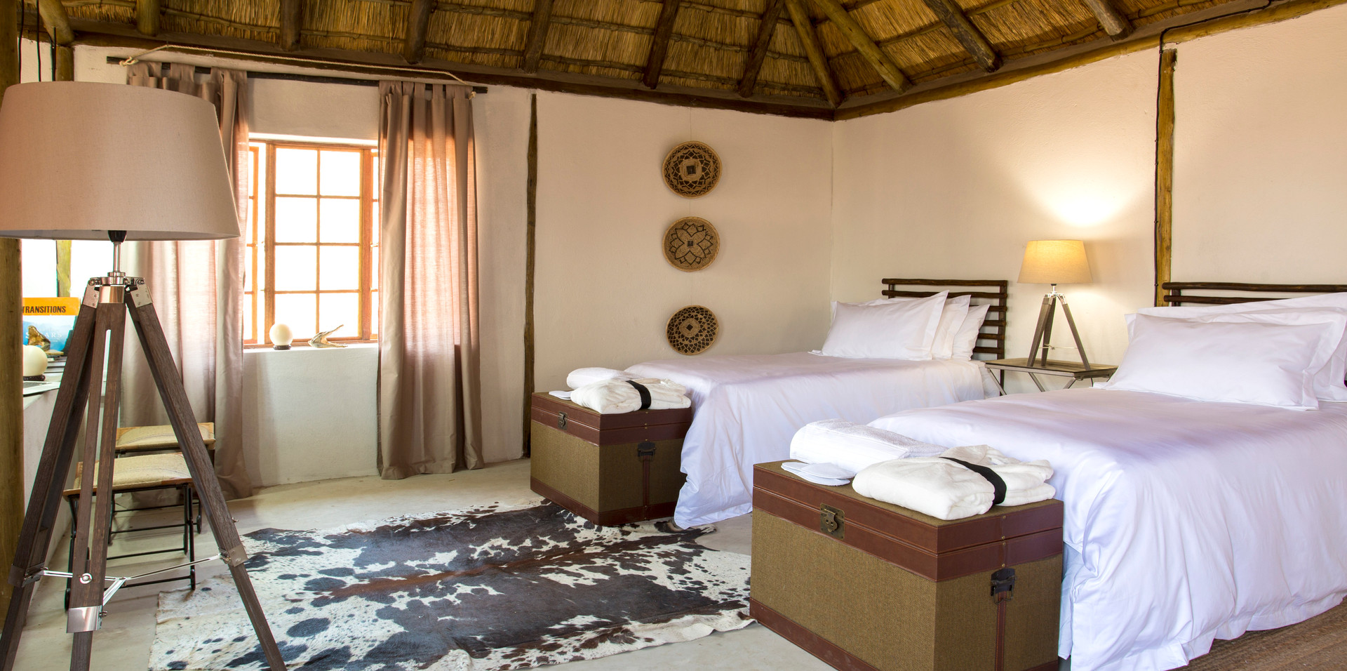 Single beds in Bungalow One