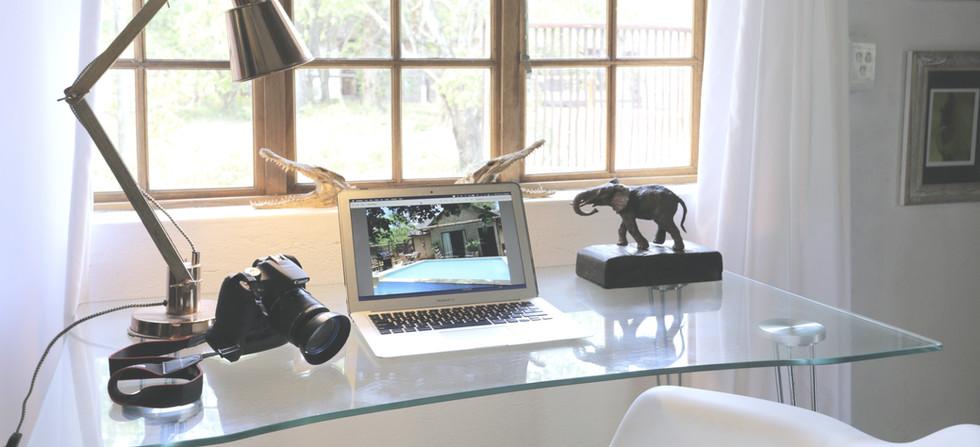 Rhino Bungalow Office in the Bush