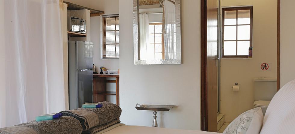 Tusk Bush Lodge Bungalow 2 Kitchen Bed.j
