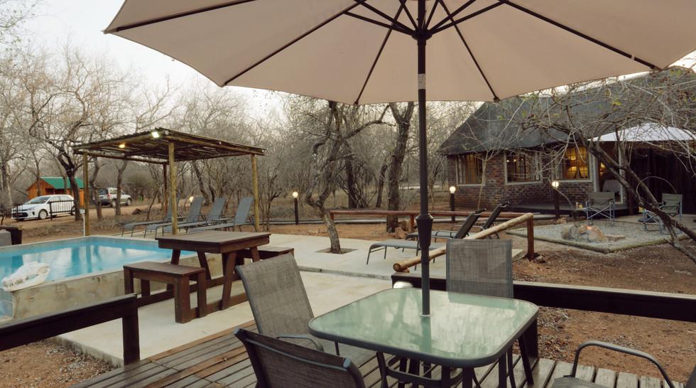 Tusk Bush Lodge Pool & Bungalow 1