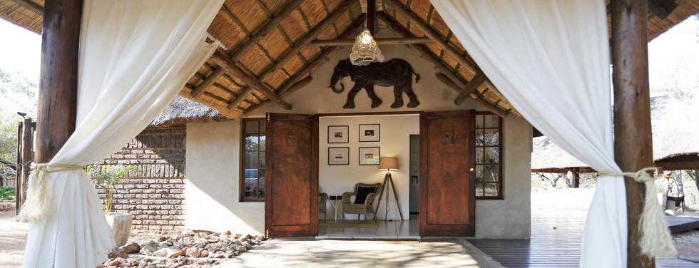 Reception entrance at Tusk Bush Lodge