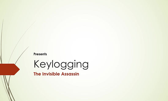 This an introduction of keylogging and how to protect yourself from it.