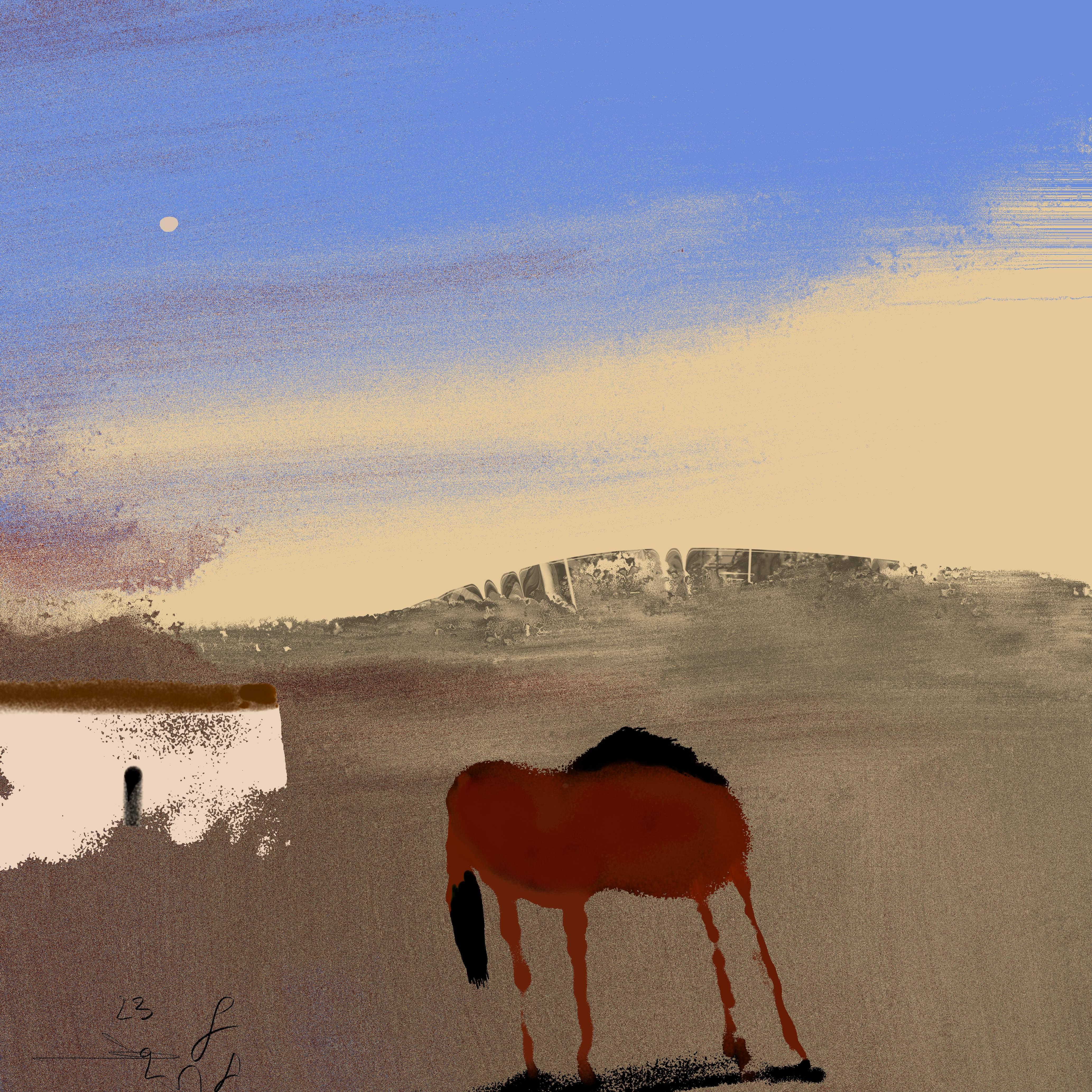 Uitgeput Renpaard