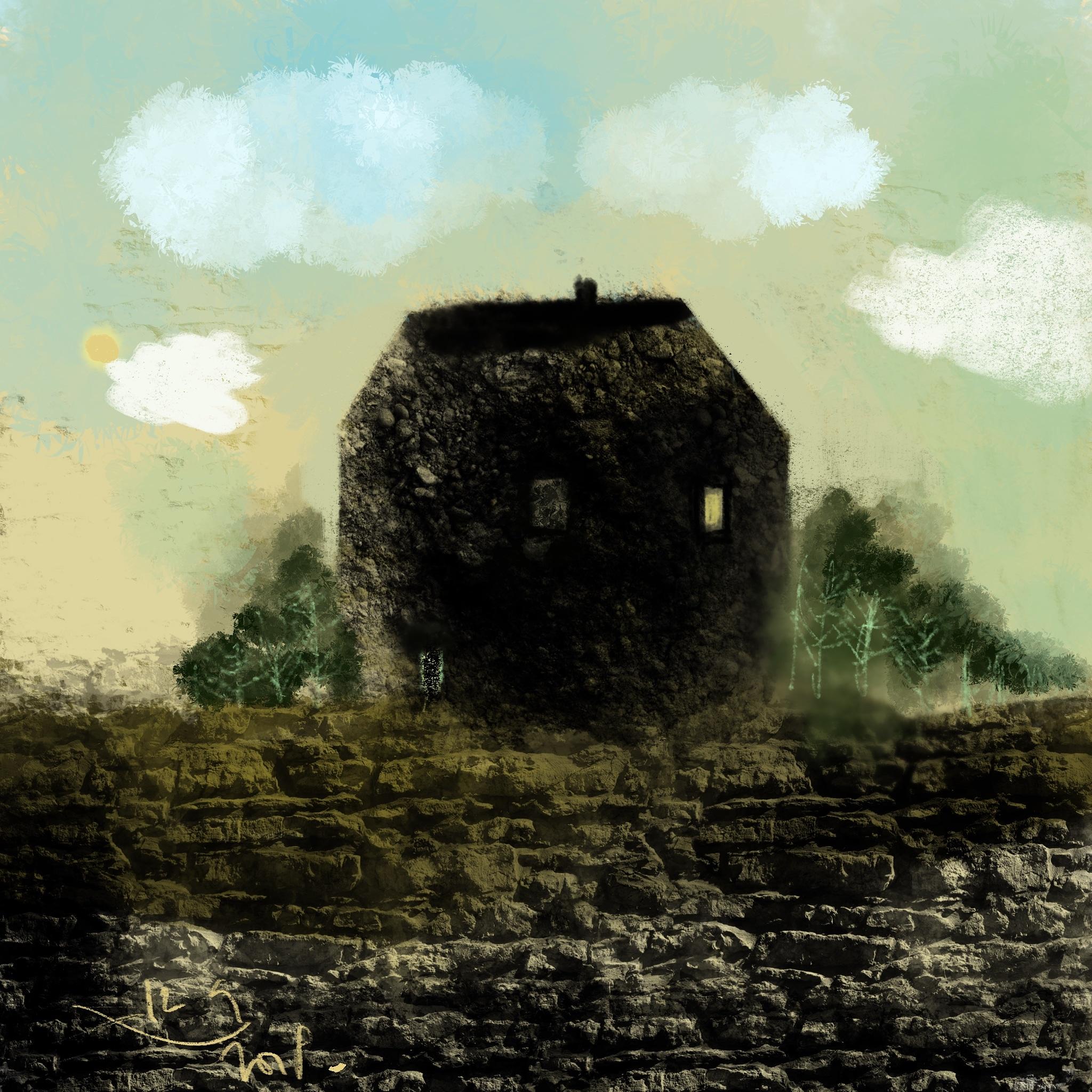 Schaapjeswolken boven een Bretons Huijs.