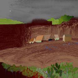 Bergdorp in Aanbouw