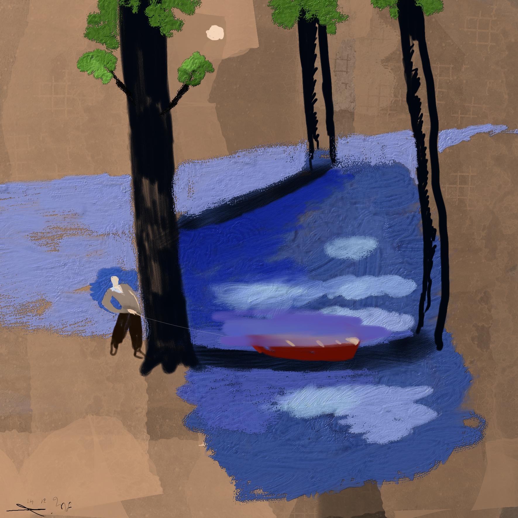 Schipbreuk in de Amazone