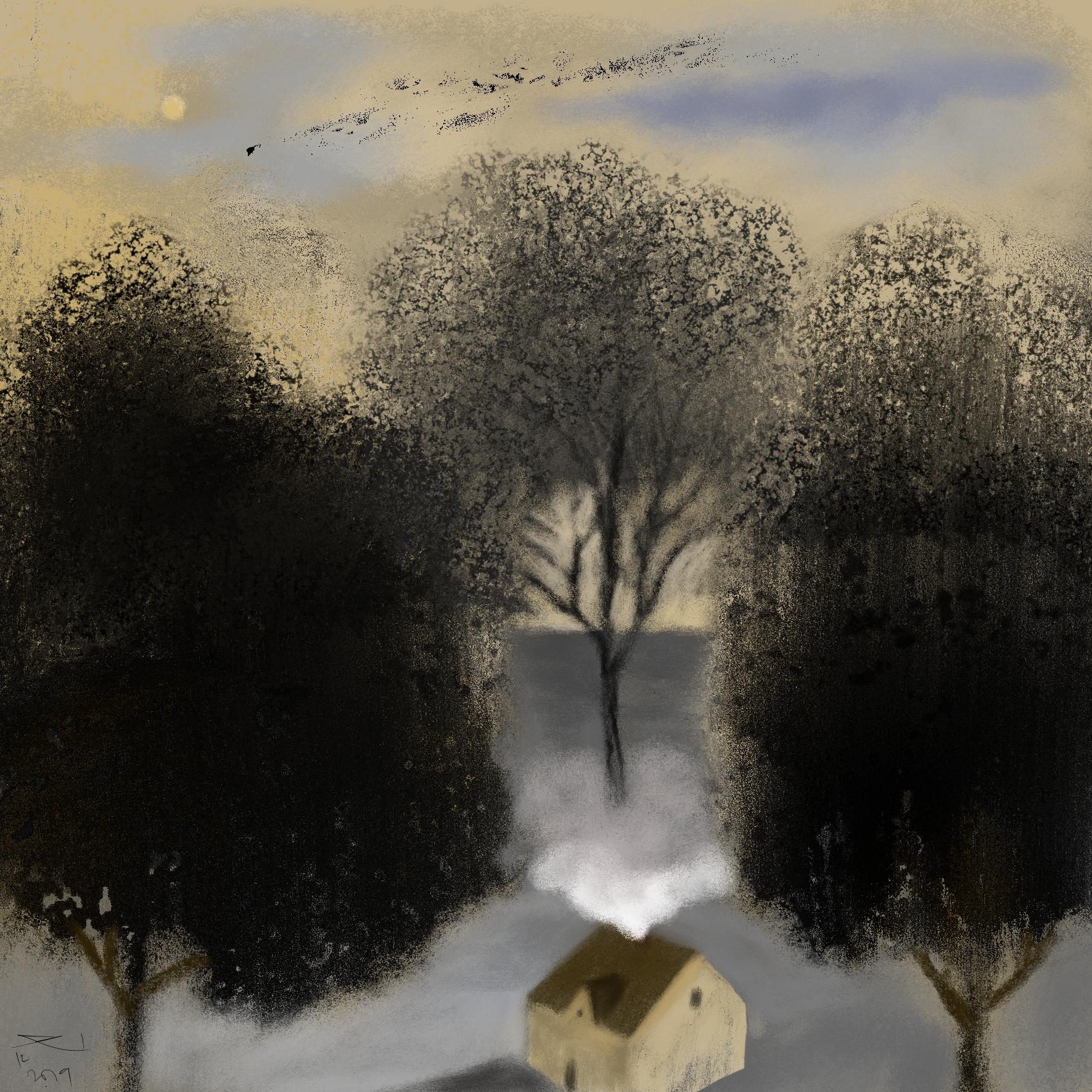 Wintermaanden van een Hovenier