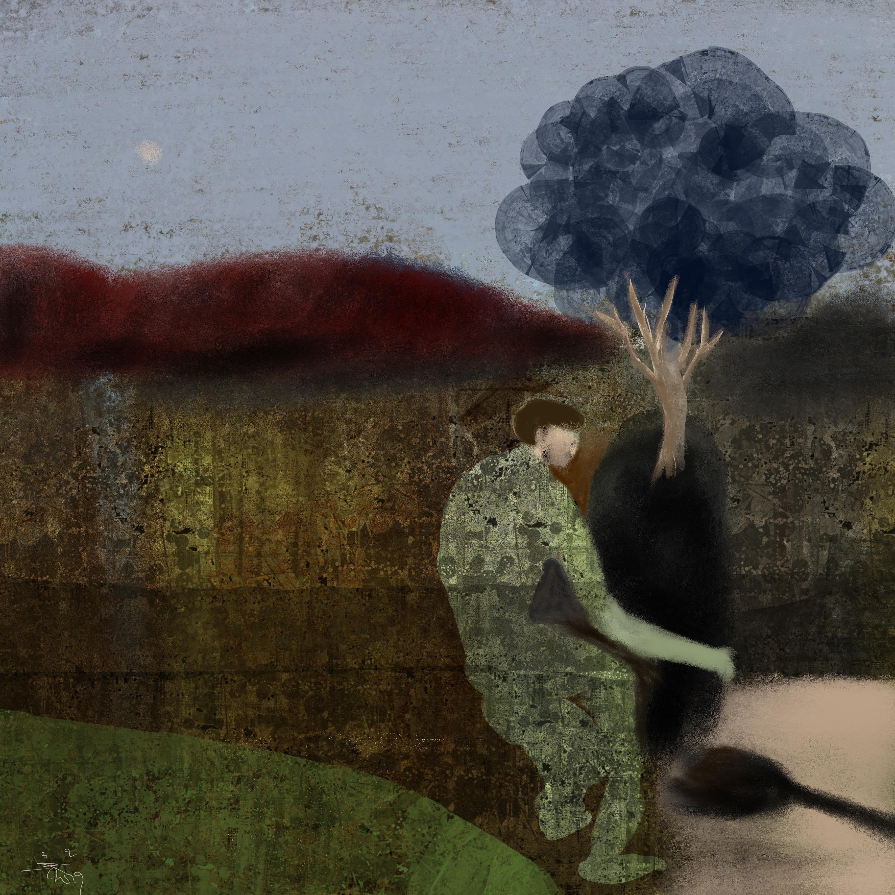 Winterboom met Kluit