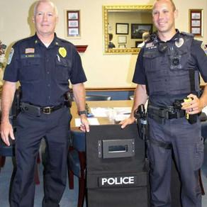 Ansonia Police Demonstrate New Minuteman III Folding Ballistic Shields