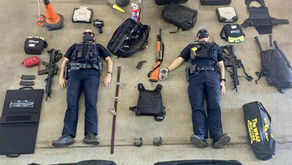 """The Minuteman Folding Shields are featured in the """"Tetris Challenge"""" by Sedona Police"""