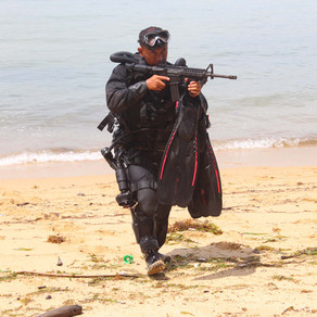 Indonesian Navy Special Forces, KOPASKA, use Jetboots during military exercises
