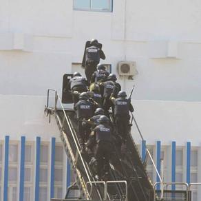 Counter terror unit, GOSP, showcase their MARS RDD ETS during Algeria Police Anniversary