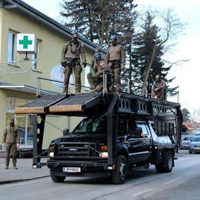 Austria EKO Cobra use MARS to remove Climate Activists at MAGNA