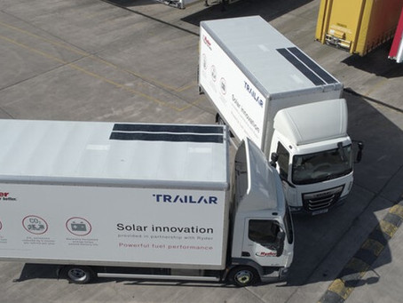 Ryder named as exclusive UK provider of TRAILAR solar technology for rigid trucks