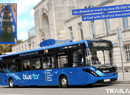 Go-Ahead Buses on track to save over 25,000 litres of diesel this year with our solar technology!