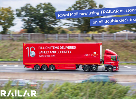 Royal Mail choose TRAILAR as standard specification to optimise their fleet!