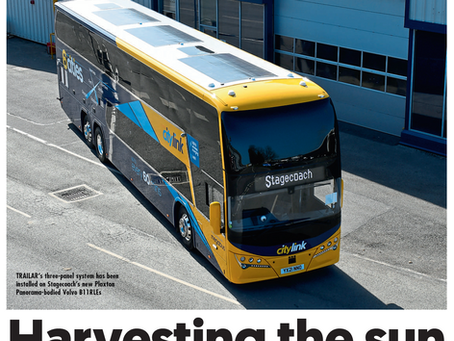 Bus & Coach Buyer Magazine Article Featuring TRAILAR!