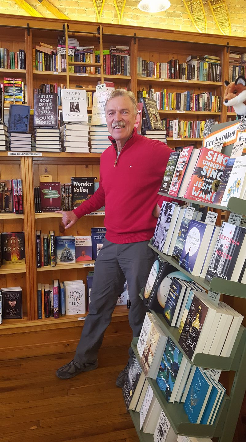 Author Alan Mulak at his book signing at the beautiful Maria's Bookstore in Durango, Co
