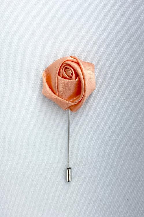 Rose Gold Liquid Rosebud Lapel Pin