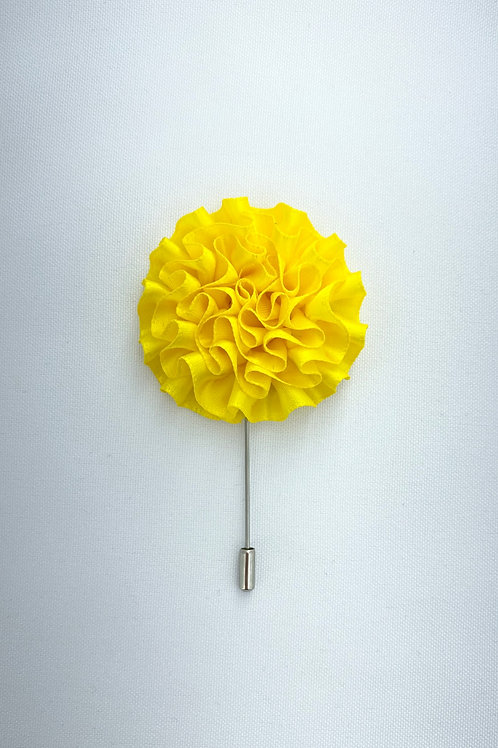 Joyous Yellow Extended Swirl Lapel Pin