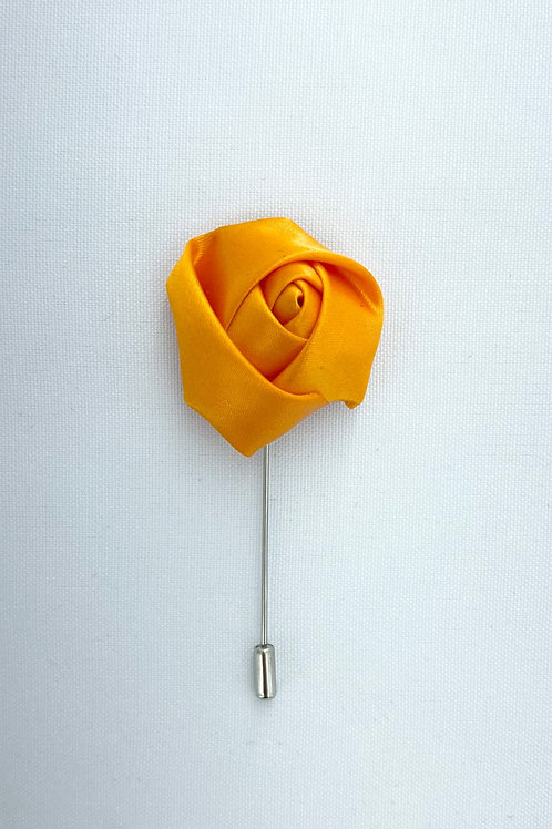 Deep Golden Liquid Rosebud Lapel Pin