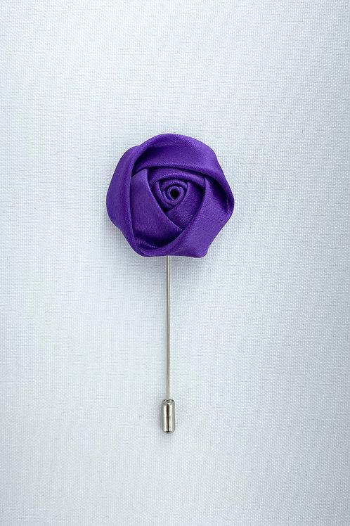 Purple Liquid Rosebud Lapel Pin