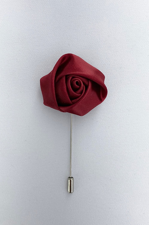 Burgundy Liquid Rosebud Lapel Pin